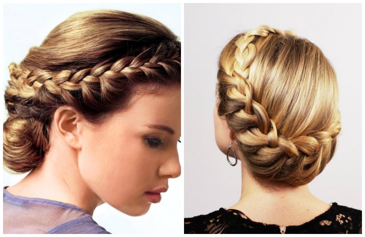 прически на средние волосы плетение кос фото уже несколько