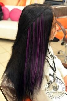 Цветные пряди на темных волосах 35 фото 💇 Для Роста Волос