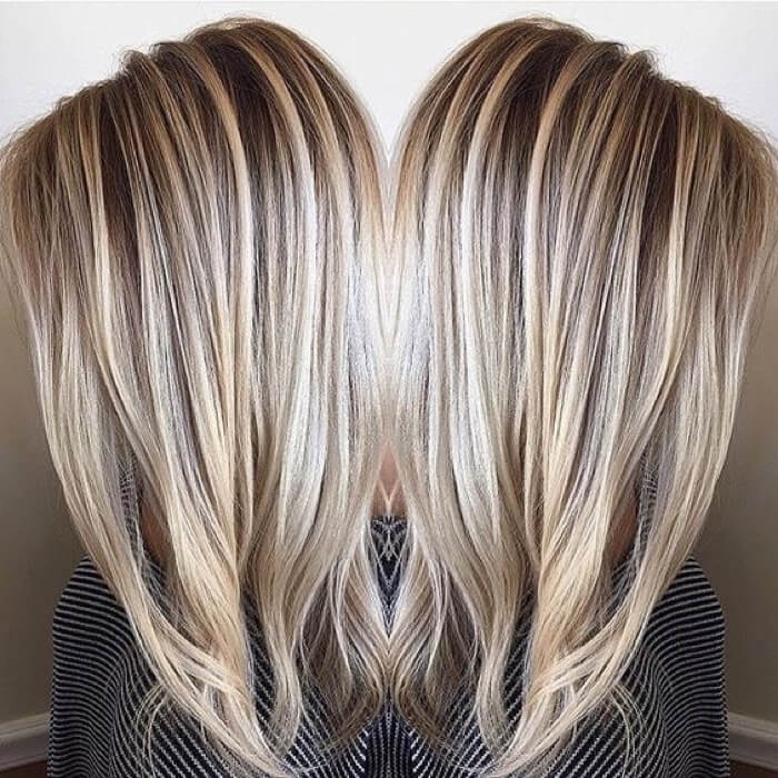 Мелирование темными прядями на светлые волосы фото недорогих деревянных