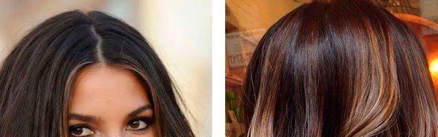 Калифорнийское мелирование на темные волосы (31 фото)