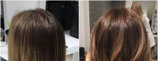 Красивое окрашивание волос: фото до и после (32 фото)