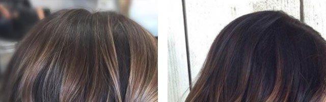 Окрашивание омбре на темные волосы: фото до и после (36 фото)