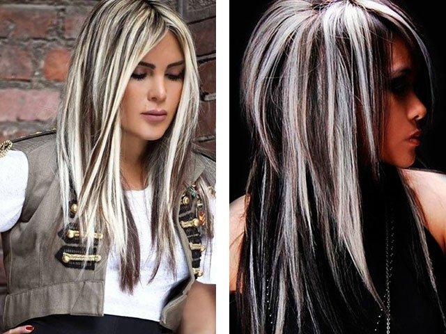 На светлые волосы сделать темное мелирование