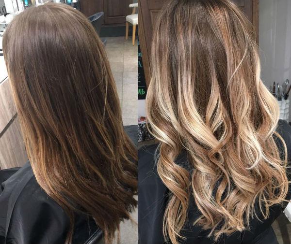 амбре окрашивание волос на русые волосы фото