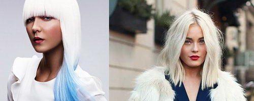 Оттенки белого цвета волос (11 фото)