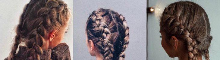 Французская коса наоборот (29 фото)