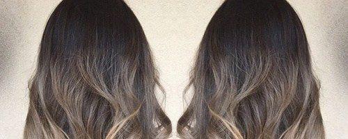 Омбре на вьющиеся волосы (32 фото)