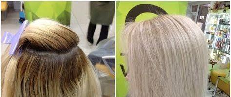 Осветление волос в салоне (27 фото)