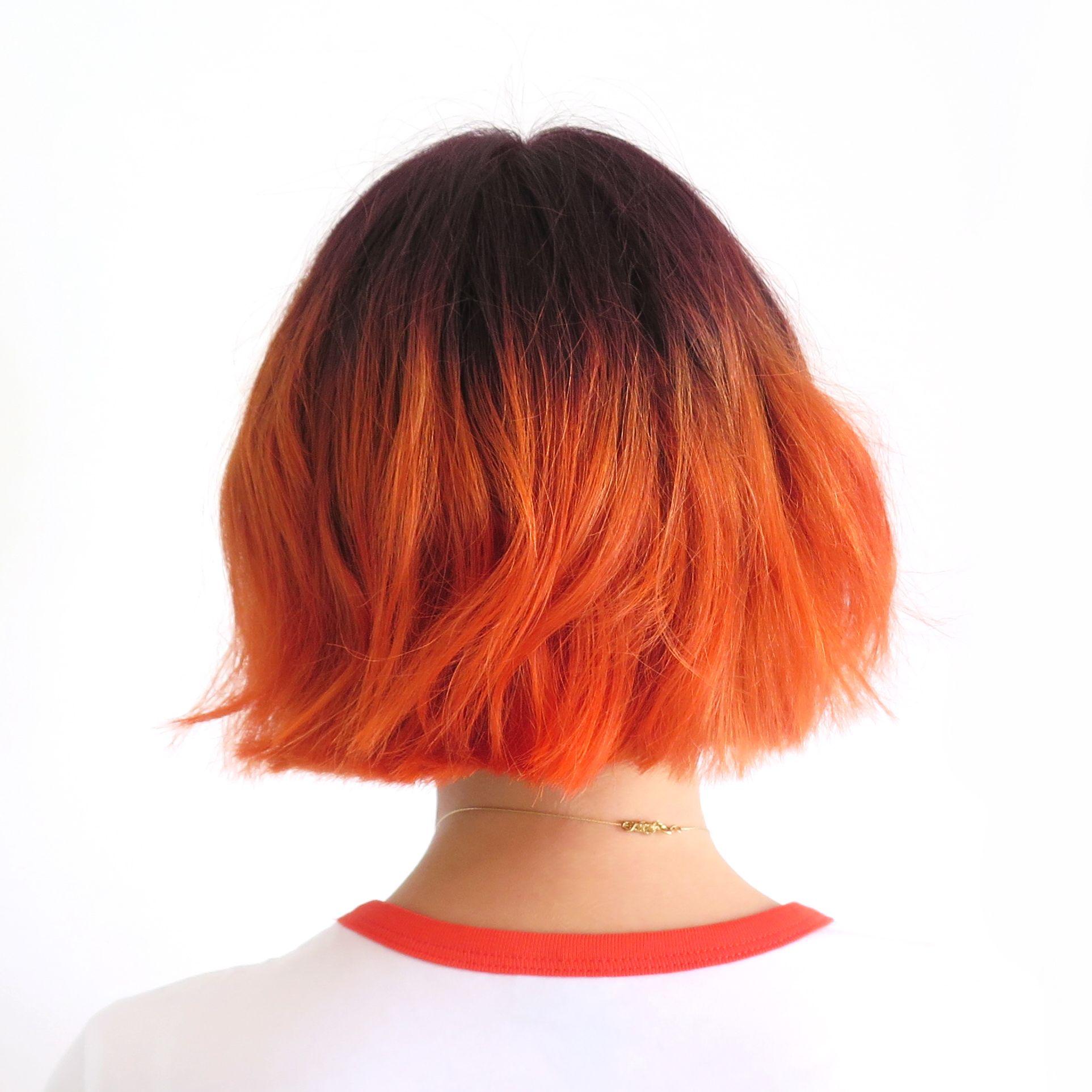 Омбре на рыжие короткие волосы