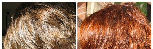 Осветление рыжих волос: фото до и после (22 фото)