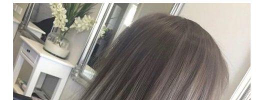 Пепельный балаяж на темные волосы (30 фото)