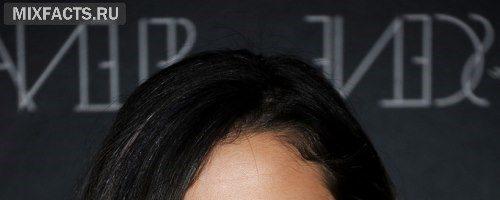 Синие пряди на черных волосах (30 фото)