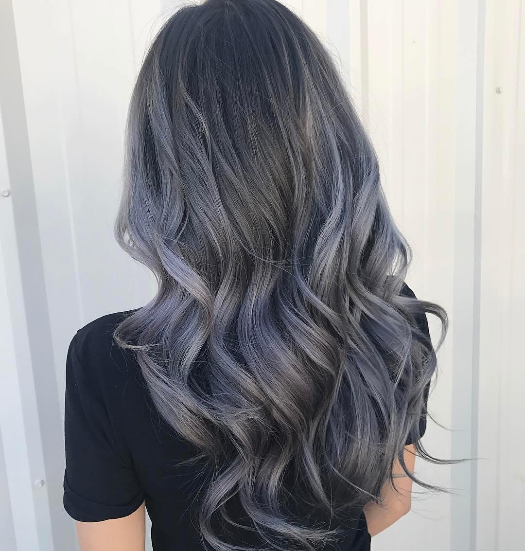 Пепельно-черный цвет волос краска