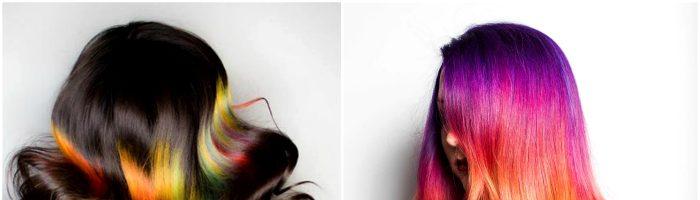 Радужное окрашивание волос (31фото)
