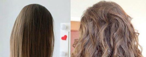 Перманентная завивка волос: фото до и после (26 фото)