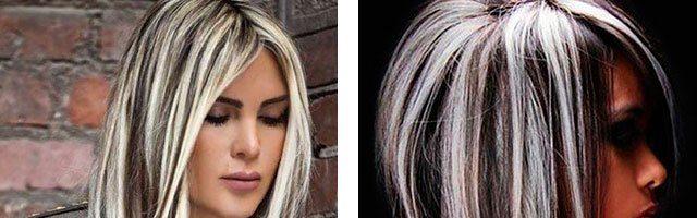 Светлые пряди на темных волосах (33 фото)