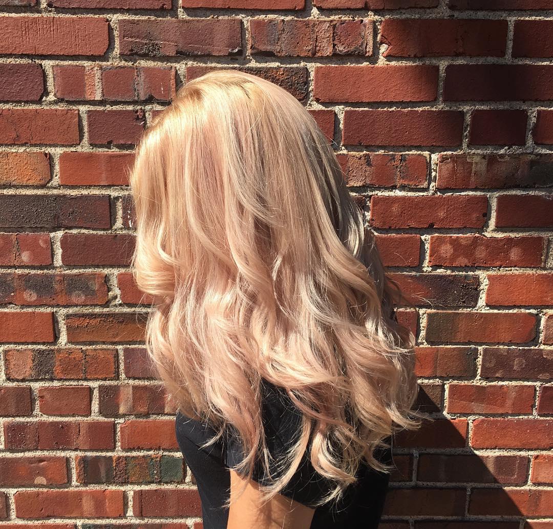 Цвет волос «пудровый блонд» (20 фото)