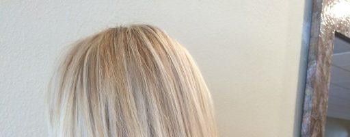 Растяжка цвета на волосах блонд (30 фото)