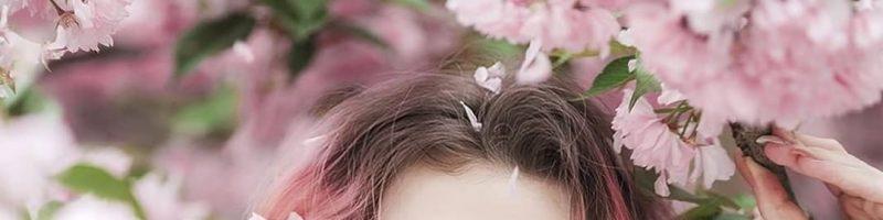 Жемчужно-розовый цвет волос (30 фото)