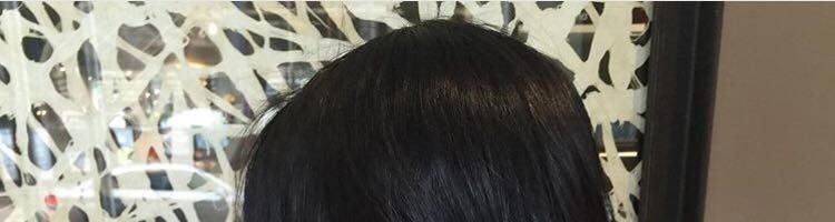 Растяжка цвета на черных волосах (30 фото)