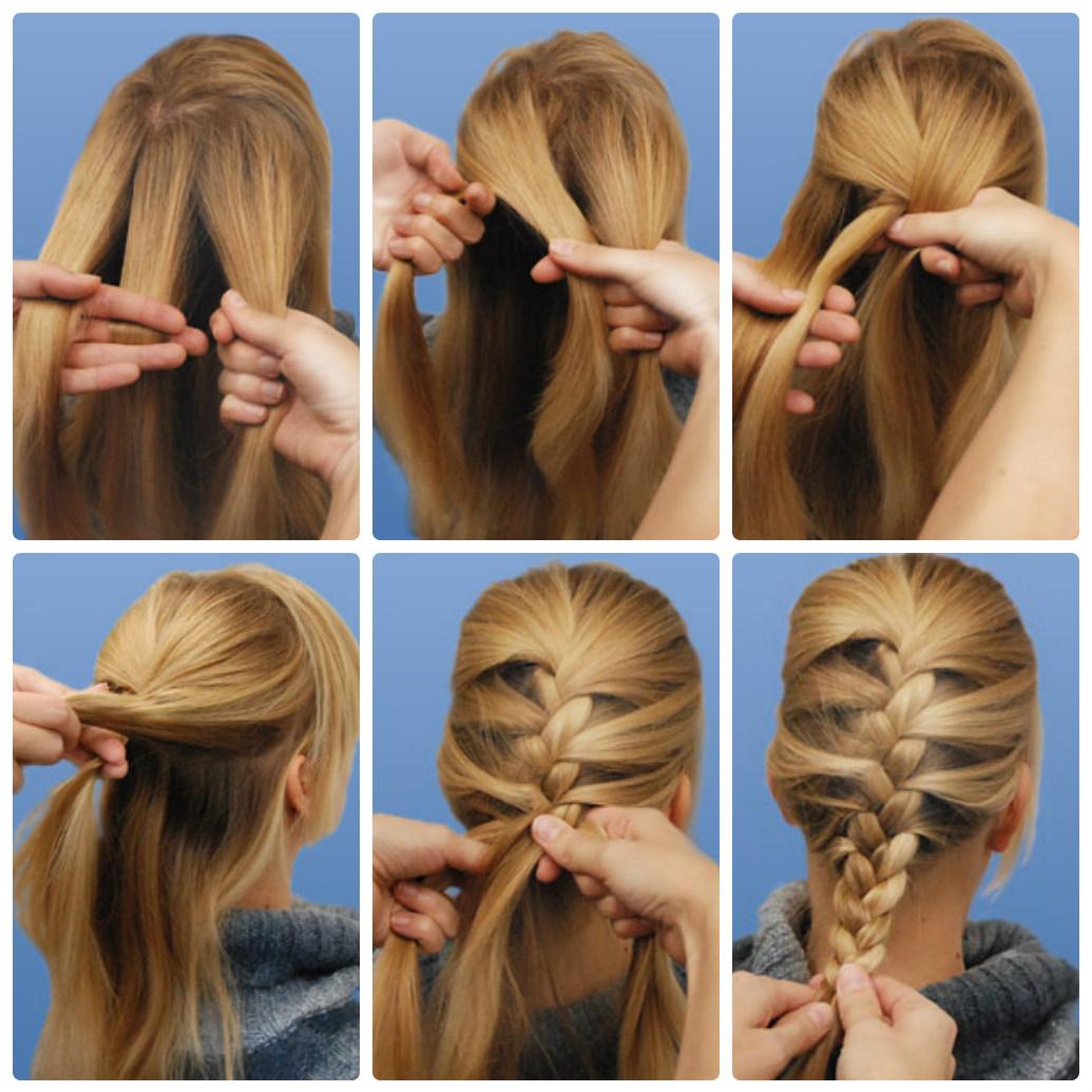 Как сделать косу из волос видео — 7