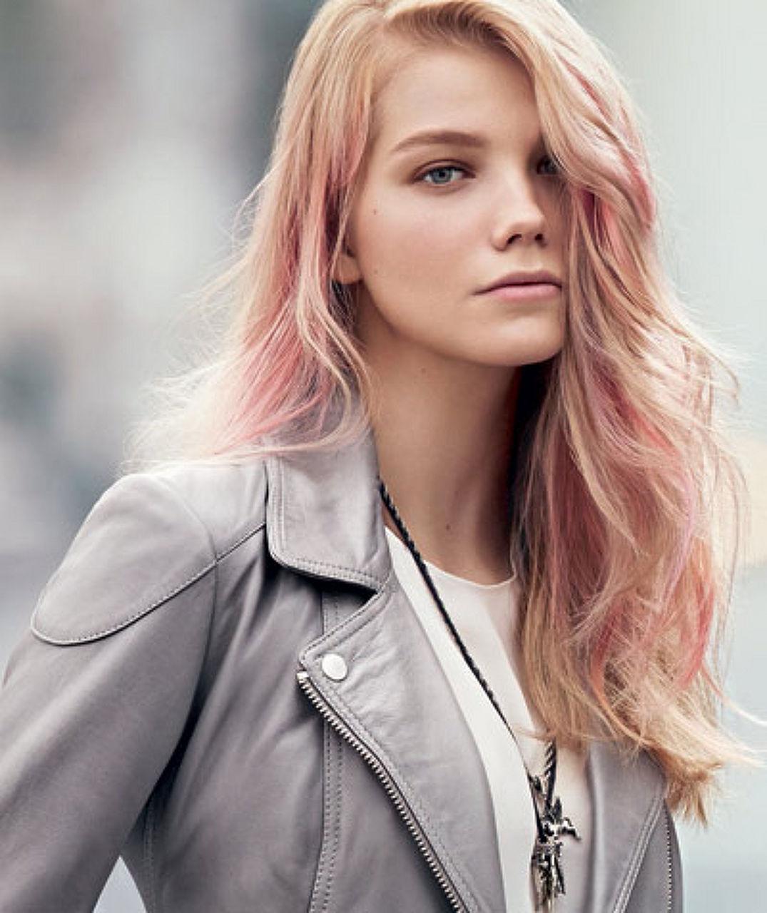 розовые пряди на светлых волосах 30 фото для роста волос