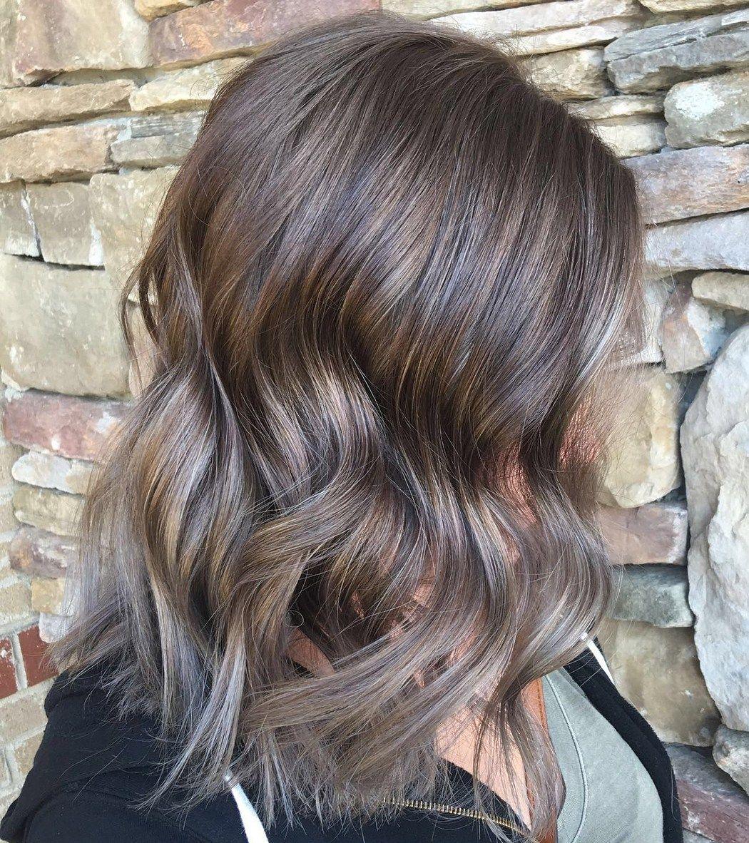 Коричнево-пепельный цвет волос (30 фото)