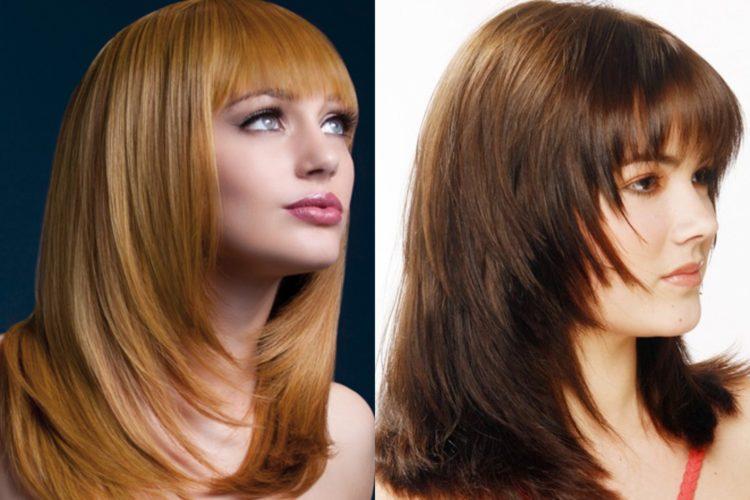 Женские стрижки для длинных волос лесенка