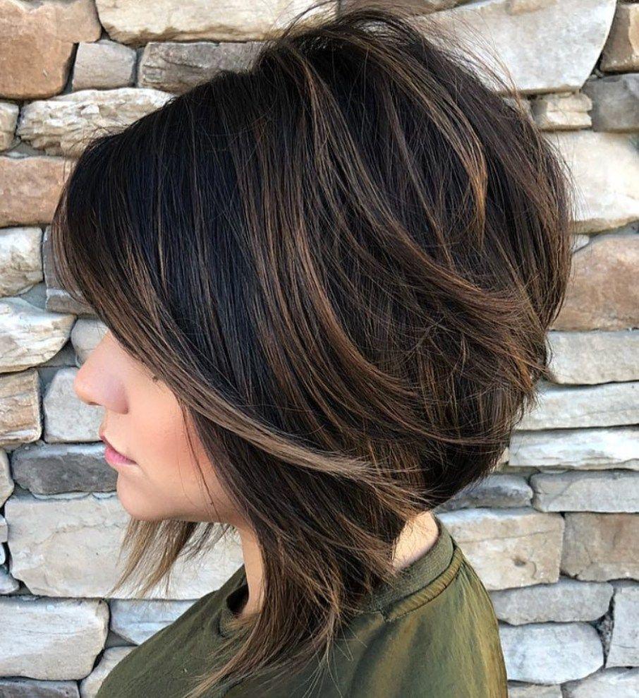 покраска волос на темные короткие волосы фото когда