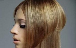 Стрижка асимметрия на длинные волосы (19 фото)
