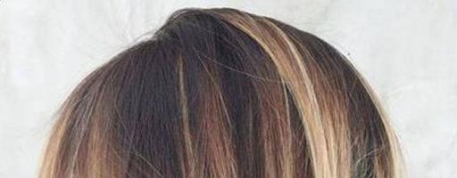 Балаяж на средние волосы с челкой (20 фото)