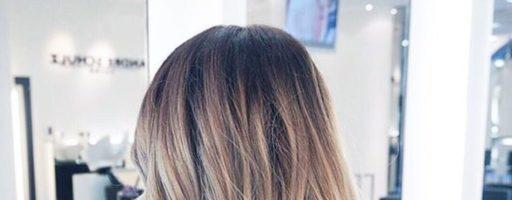 Балаяж на светлые волосы средней длины (20 фото)