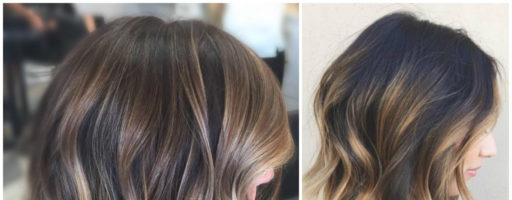 Омбре окрашивание на средние волосы (20 фото)