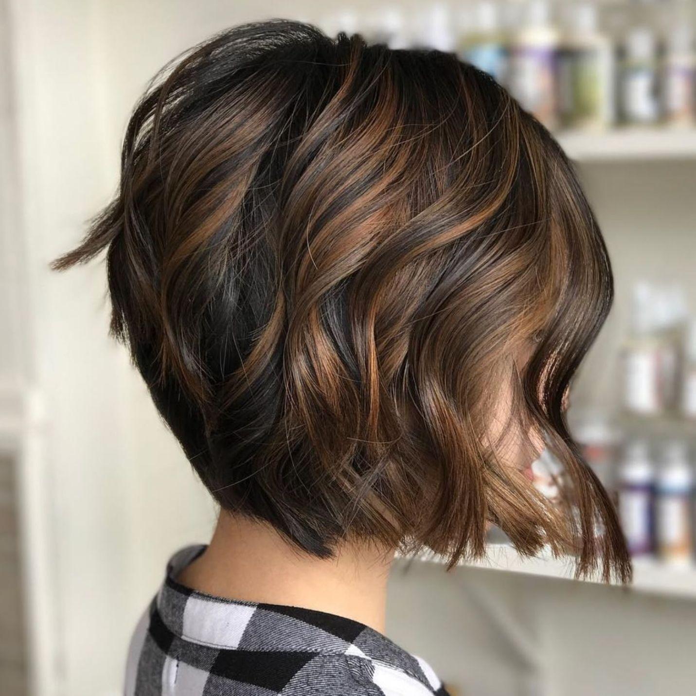 Шатуш фото на короткие темные волосы
