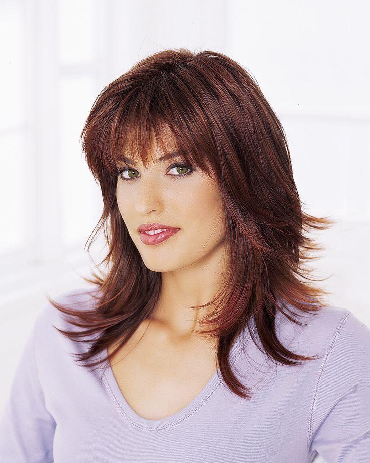 Стрижки с челками на средние волосы фото