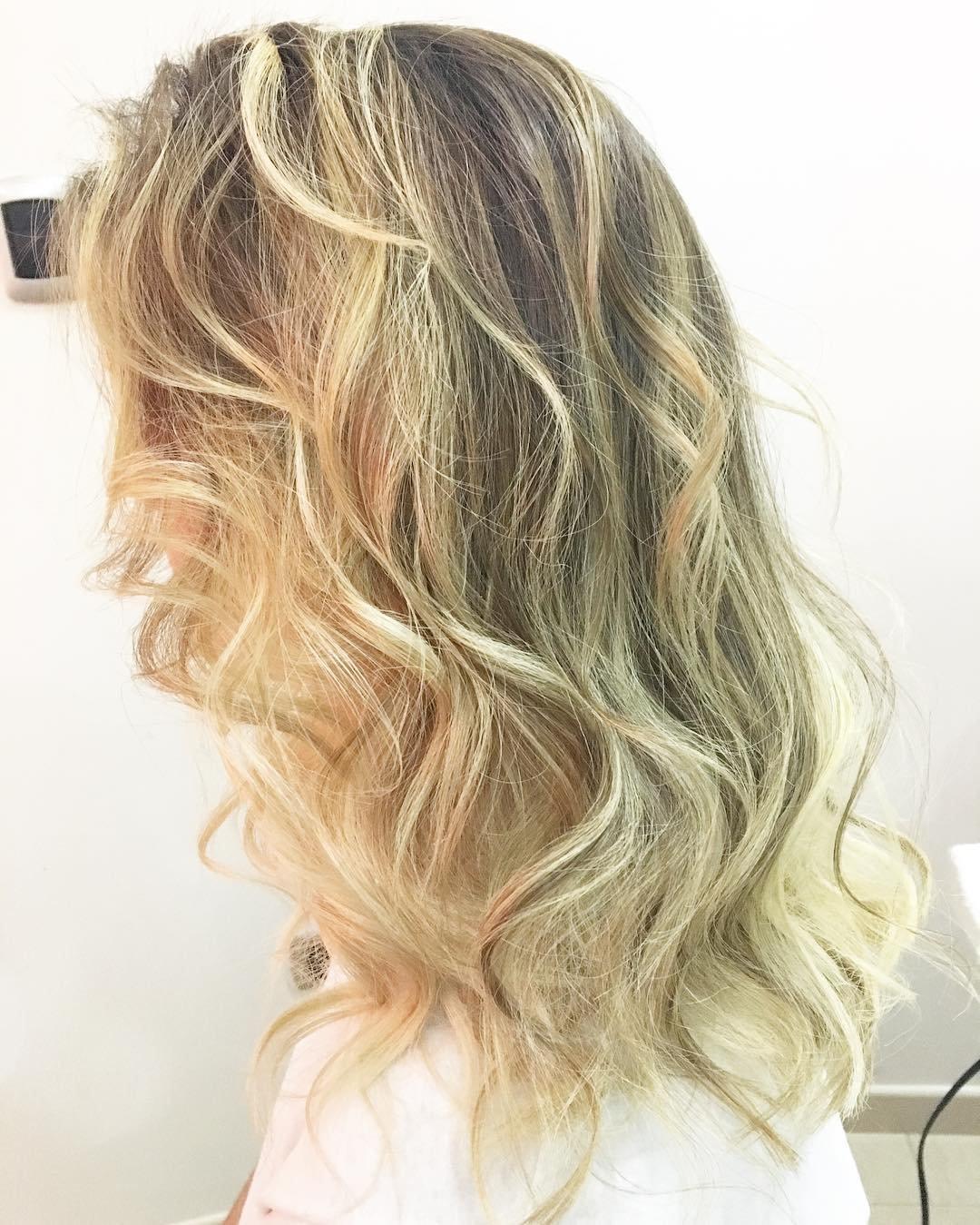 Балаяж на светло русые волосы фото