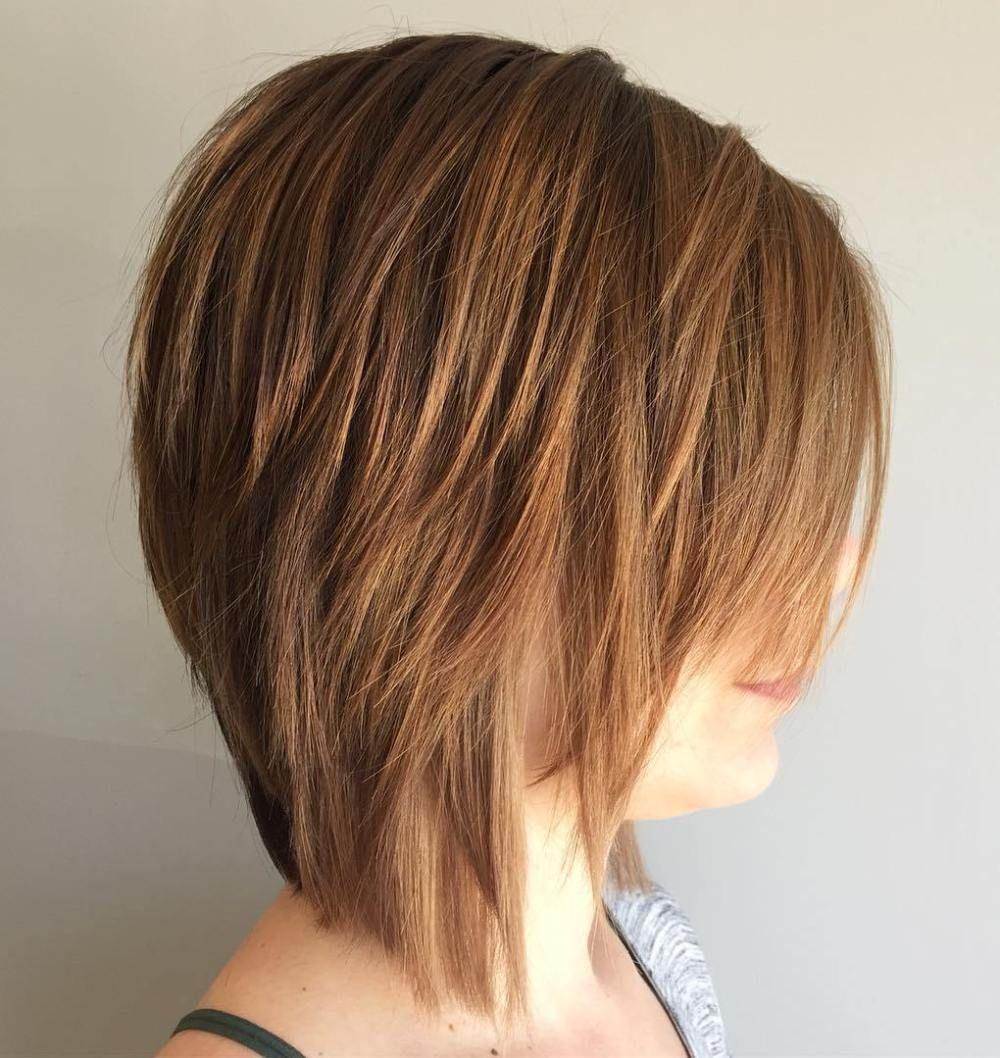 Каскадный боб на средние волосы (30 фото)