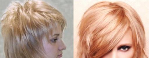 Стрижка волчица на средние волосы (18 фото)