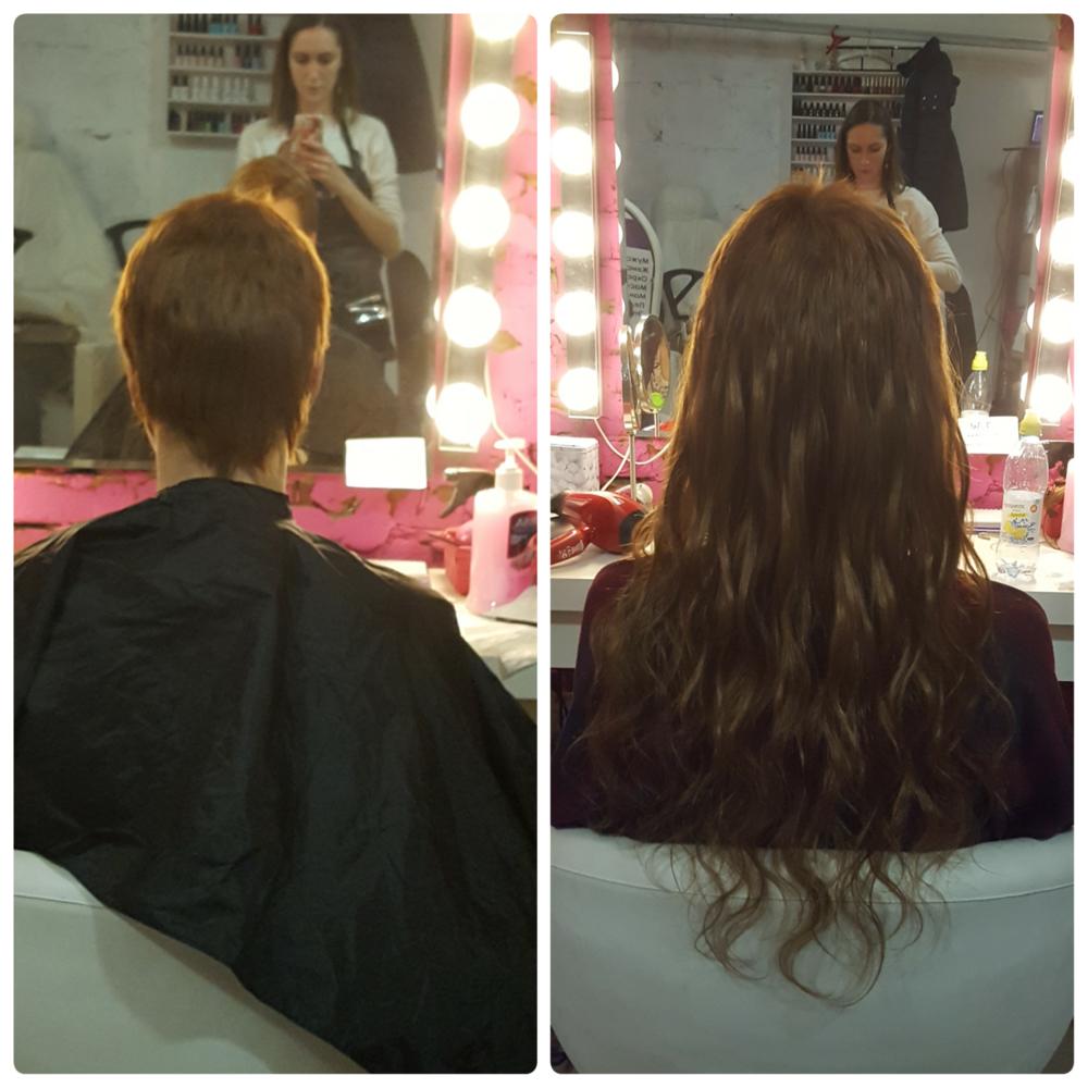 Наращивание волос на очень короткие волосы (30 фото)