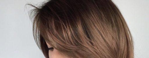 Брондирование на темные волосы средней длины (30 фото)