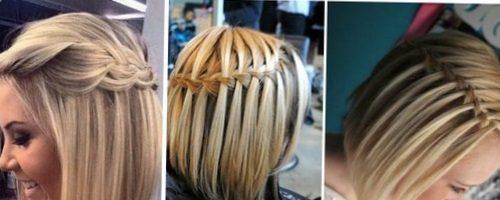 Прическа водопад на короткие волосы (11 фото)