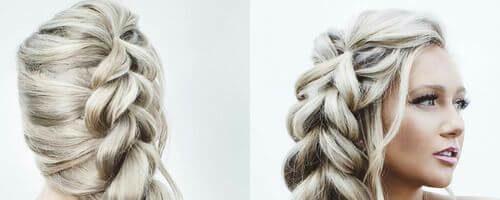 Греческая коса на длинные волосы (30 фото)