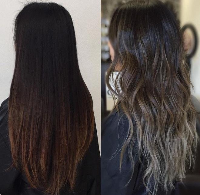 Омбре или шатуш темные волосы