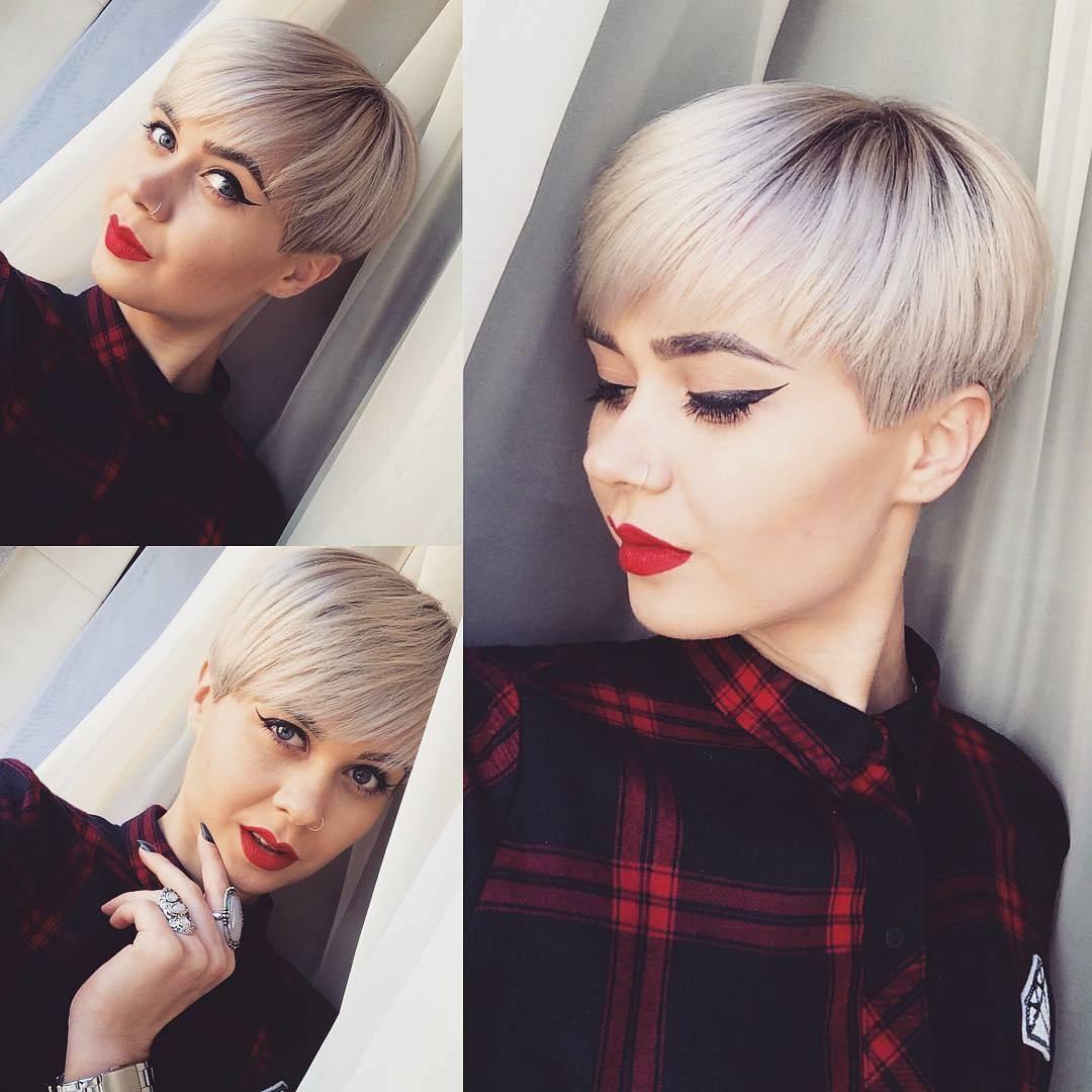 Варианты стильных стрижек на короткие волосы (29 фото)
