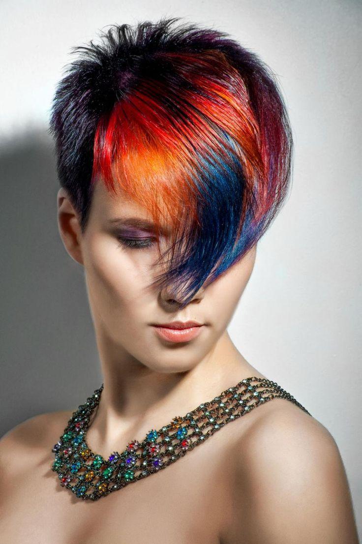 является самым как покрасить короткие волосы фото этот рецепт